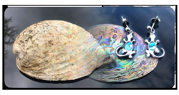 Ohrringe mit Paua Perlmutt