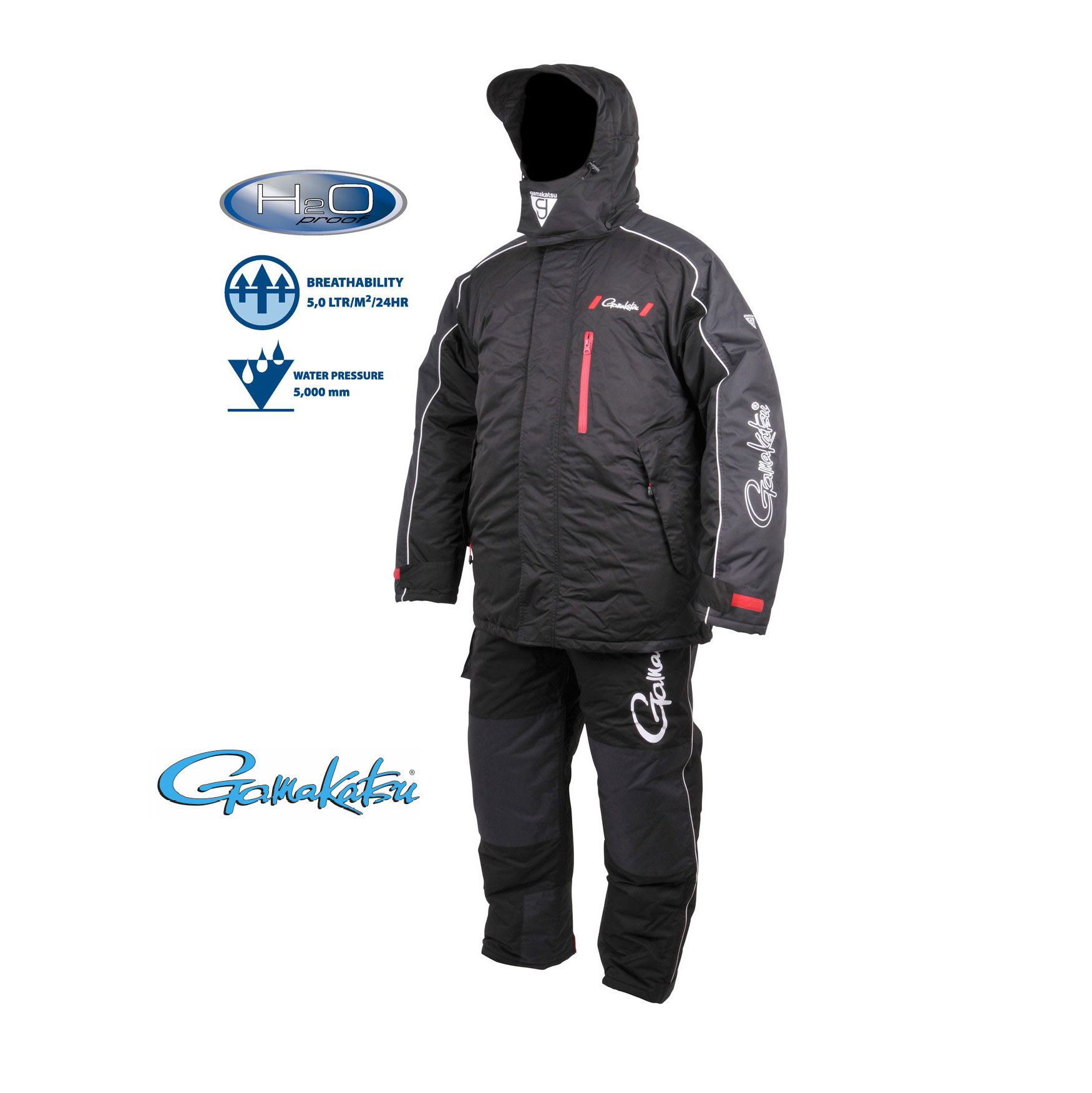 Gamakatsu hyper thermal suits black