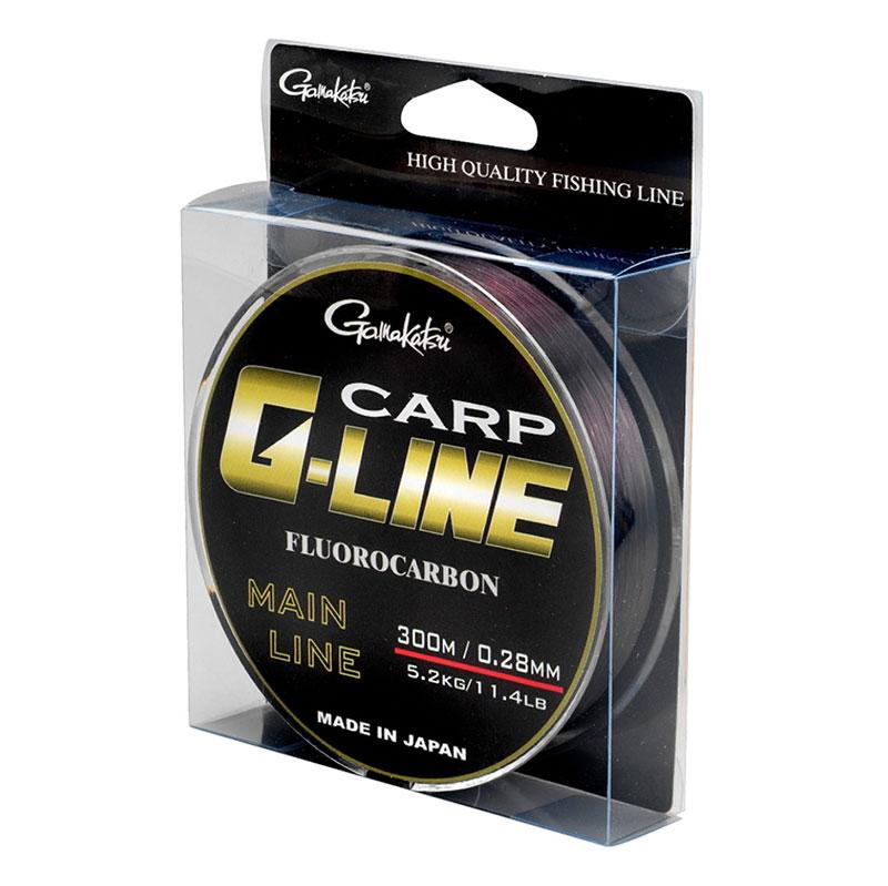 Gamakatsu G-Line Carp fluorocarbon, brown - 300m