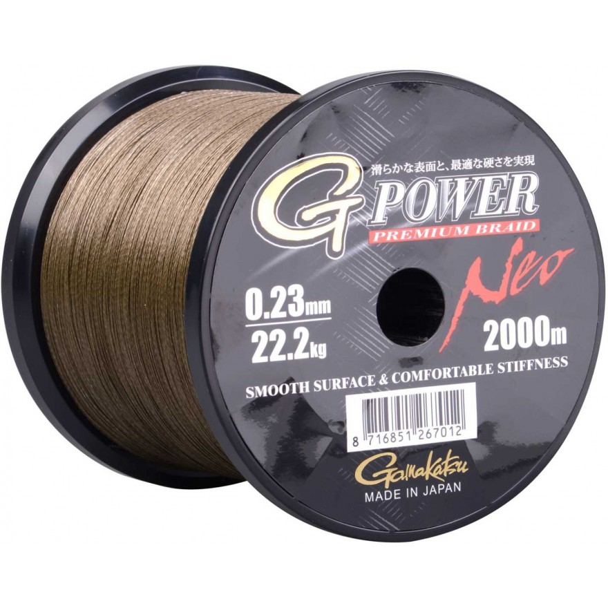 Gamakatsu G-power neo moss green, 100m (Grossspule)