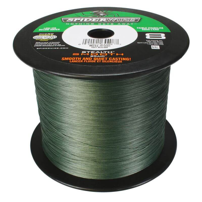 Spiderwire stealth smooth 8braid, 100m - moss green (Grossspule)