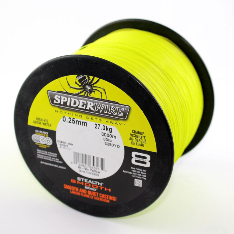 Spiderwire stealth smooth 8braid, 100m - high vis yellow (Grossspule)