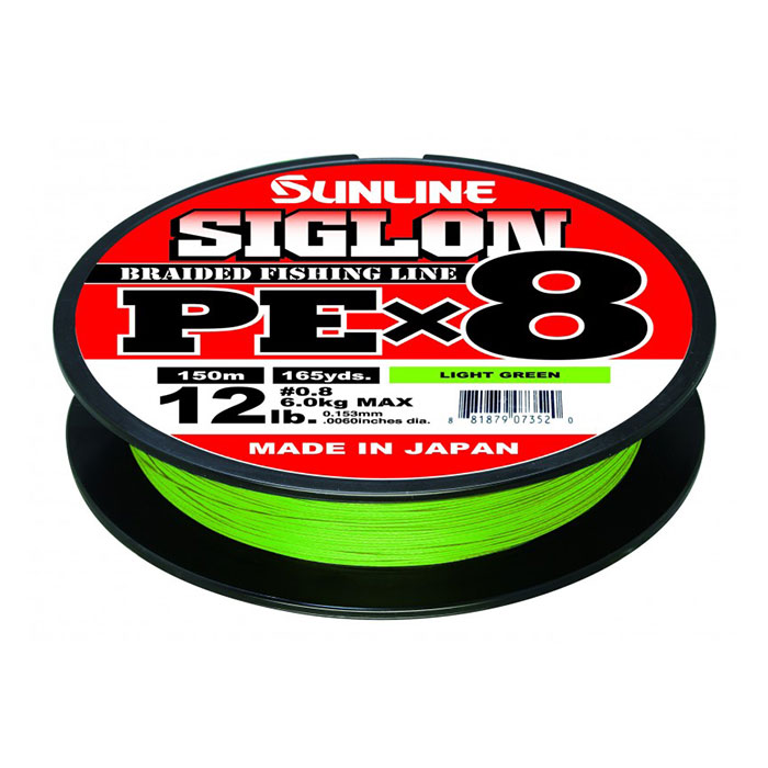 Sunline Siglon PEx8, light green - 150m